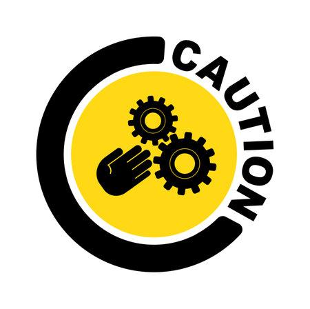 Crush hazard sign on white background 向量圖像