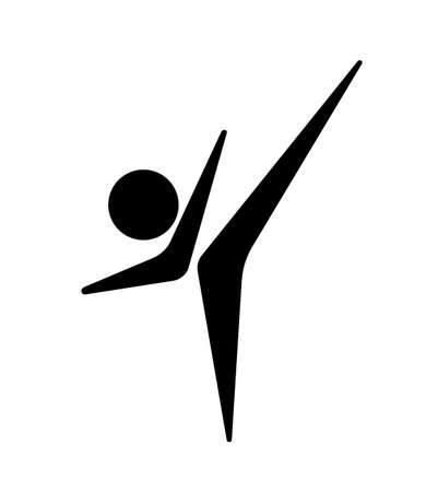 sport people icon on white background