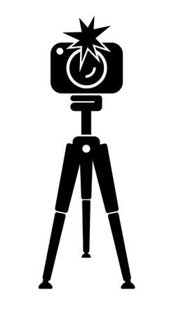 photo camera icon on white background 向量圖像