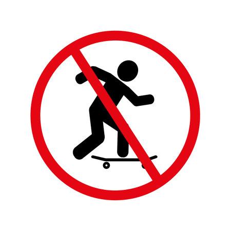 skateboarding sign. Vector icon.