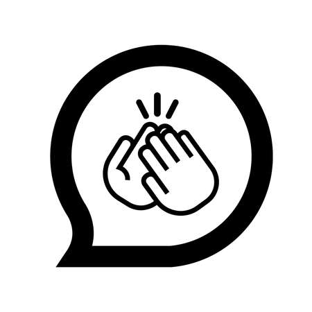 applause icon on white background