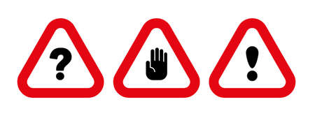 stop sign on white background. Vector icon.