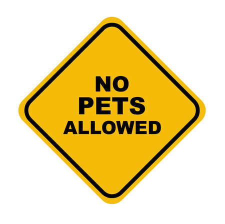 no pets allowed sign on white background Vector Illustratie