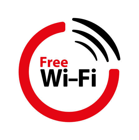 free wi fi text on white background