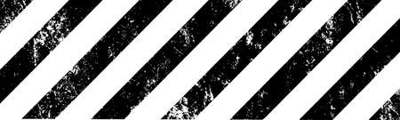 warning sign with grunge stripes Vecteurs