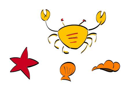 crustaceans: crustaceans Illustration