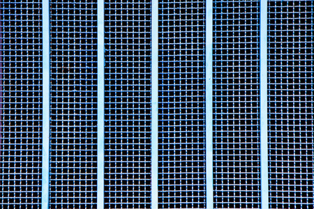 metal bars: close up metal grille with vertical metal bars Stock Photo