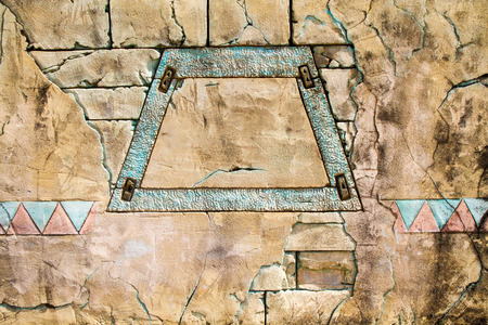 friezes: detail of wall decorations with ancient Incas Stock Photo