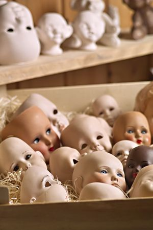 delightfully: doll heads
