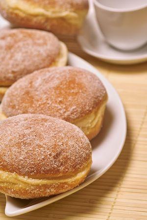 Doughnuts with ice sugar photo