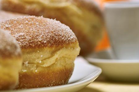 Doughnuts with ice sugar Stock Photo