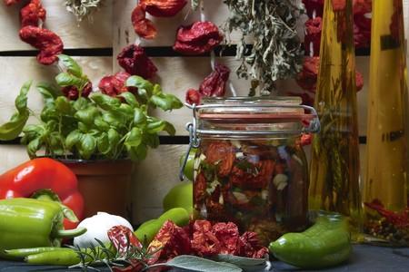 inlaid vegetables and fresh ingredients