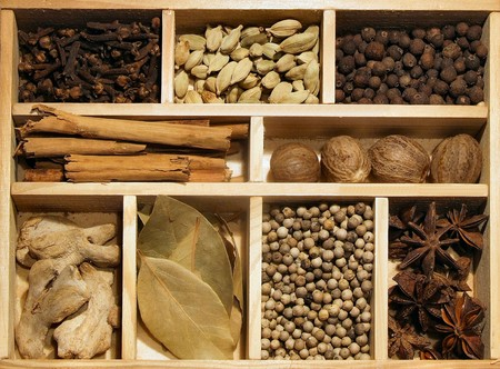 Spices in abox photo