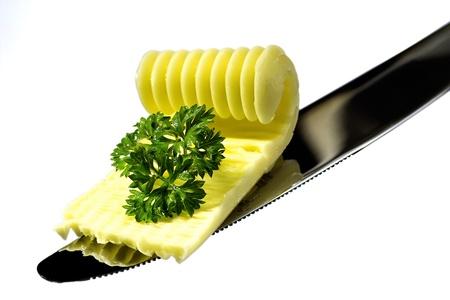 butter on a blade