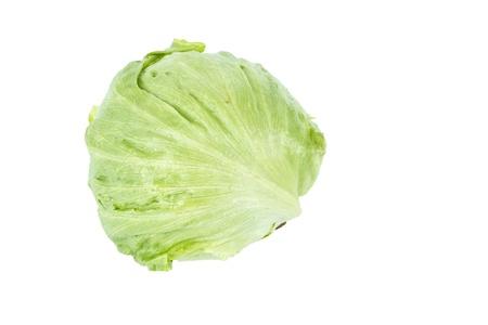 Iceberg lettuce isolated before white background Stock Photo