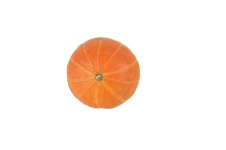 Hokaido pumpkin isolated before white background Stock Photo