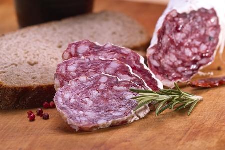 vespers: Salami and bread