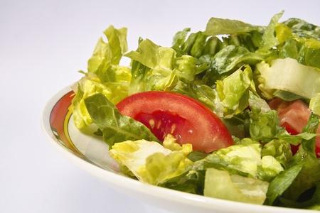 fresh salad on a dish