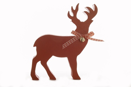 Christmas figure deer before white background Stock Photo