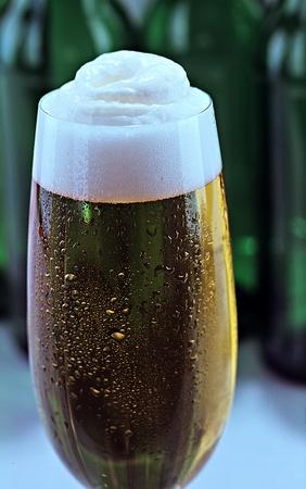 beer tulip: beer in a glass