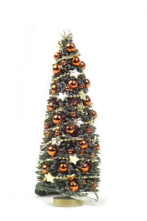 Christmas tree isolated against a white background