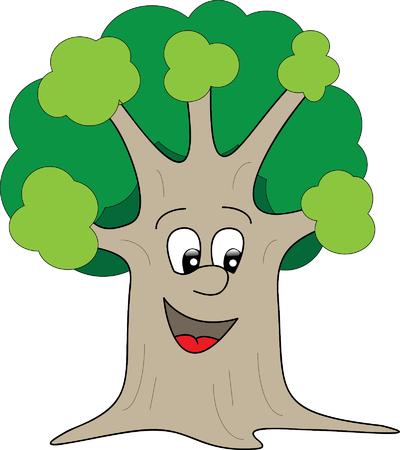Tree character vector illustration Ilustrace