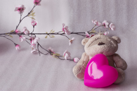 saint valentine   s day: With love from a small teddy bear