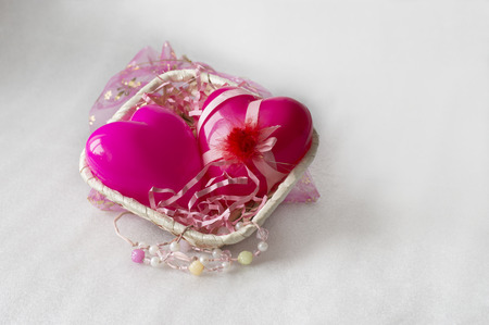 tender sentiment: Gift basket with love