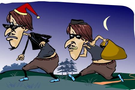 villain: robbery thieves escape