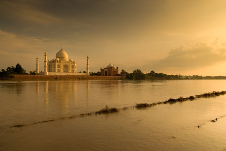 Taj Mahal in sunset scene  photo