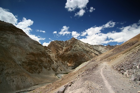 Landscape scene in Leh, Marka Valley trek tour. Marka Valley\ trek is one of most popular trek in North of India