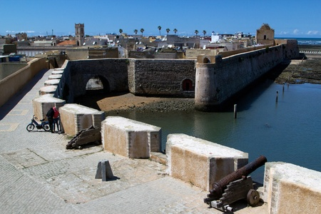 marocco: City Of El jadida, Marocco. Showing famous historical defence wall. Stock Photo