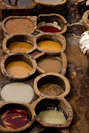 fez: Morocco Fez Tannery�