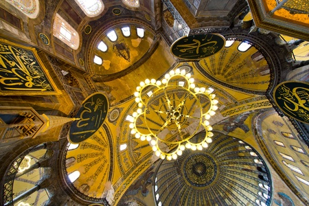 Interior  of Hagia Sophia Mosque, Istanbul, Turkey