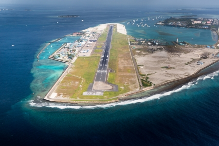 Picture of main airport in Male, Capital of Maldives region Stock Photo