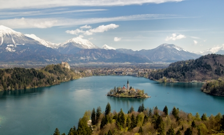 Bled as most famous tourist attraction in Slovenia photo