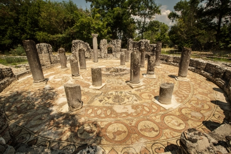 balkan: Famous Roman settlement located in archaeological city of Butrint in Albania Stock Photo