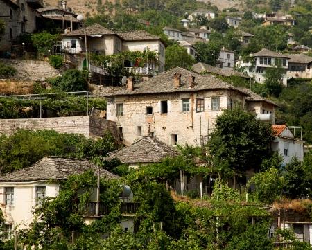 albania: Ottoman houses  Gjirokaster, Albania Stock Photo