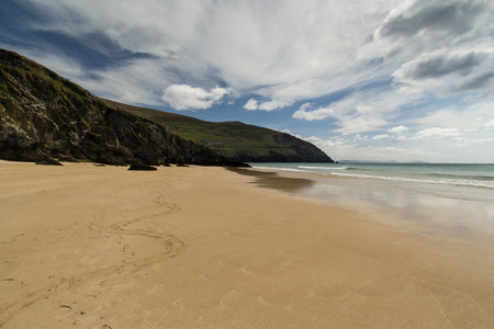 Picture of sand coast located in country of Ireland photo