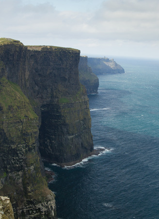 moher: Typical Cliffs located in Ireland in vertical position