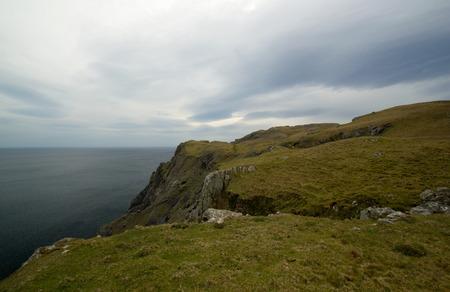 Cliffs landscape near city of Donegal, Ireland photo