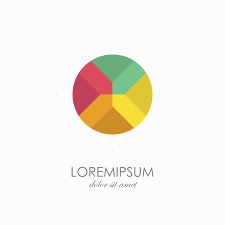 Color sign logo template. abstract symbols in flat design
