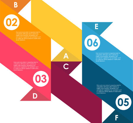 Design clean number banners template. Graphic or website layout. Modern style, options banner. Web design, infographics. Number options. Design clean number banners template. Vibrant color