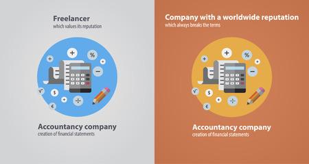 freelance: freelance accounting flat Illustration