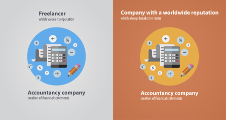 freelance accounting flat 向量圖像