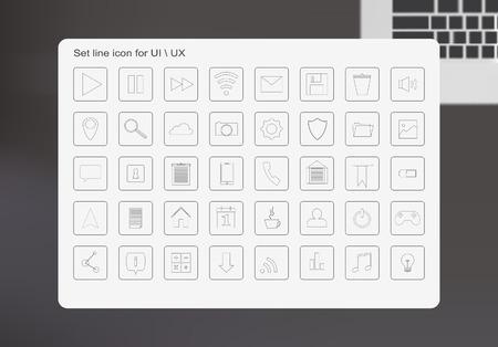 ui ux icon line minimalism flat
