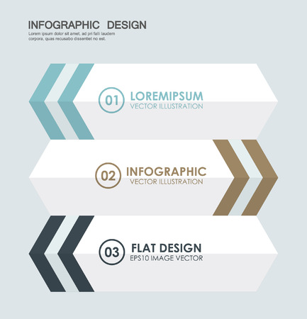 banner with arrow in flat style. vector template for presentations