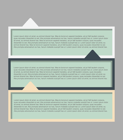 options, business proposal, business brochures, templates for presentations in flat style 向量圖像