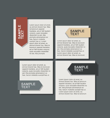 step option in flat design. business template brochure vector 向量圖像