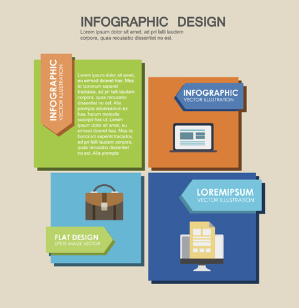 four options in flat design. One two three four - vector paper progress step